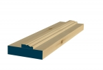 31 x 132mm Pre-Varnished Redwood Door Liner (Single Door)