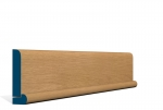 19 x 94mm Pre-Varnished Solid White Oak Bullnose Architrave, inc. Hockey Stick (5x2.4m)