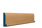 19 x 94mm Pre-Varnished Solid White Oak Chamfered Architrave, inc. Hockey Stick (5x2.4m)