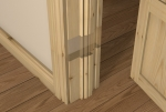 Pre-Varnished Redwood Internal 30 Minute Fire Door LINER (inc Ogee Door Stop)