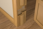 Pre-Varnished Solid White Oak FACED Internal 30 Minute Fire Door LINER (inc Ogee Door Stop)