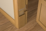 Pre-Varnished Solid White Oak FACED 30 Minute Fire REBATED Door Frame