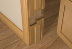 Pre-Varnished Solid White Oak FACED Internal 30 Minute Fire Door LINER (inc Square Door Stop)