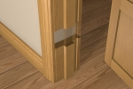 Pre-Varnished Solid White Oak Internal 30 Minute Fire Door LINER (inc Square Door Stop)