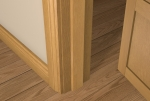 12 x 50 Pre-Varnished Solid White Oak Square Edge Door Stop (Single Door)