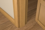 12 x 70 Pre-Varnished Solid White Oak Square Edge Door Stop (Single Door)