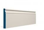19 x 144mm PRE-PAINTED Wood Ogee Skirting - IVORY (5x2.4m)