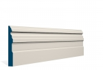 19 x 144mm PRE-PAINTED Wood Owel Skirting - IVORY (5x2.4m)