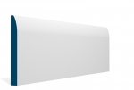 19 x 169mm PRE-PAINTED Wood Rounded Skirting - WHITE (5x2.4m)