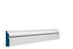 19 x 69mm PRE-PAINTED Wood Torus Architrave/Skirting - WHITE